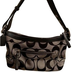 Coach Dark Gray & Black Shoulder Bag